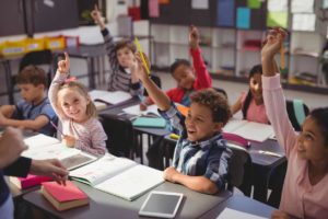 schoolkids using chatbots for education